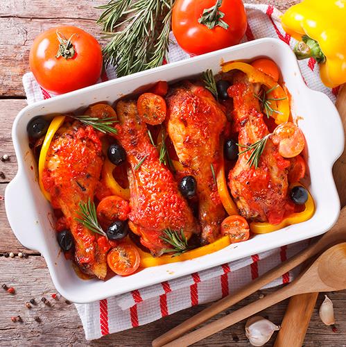 Как правильно запечь курицу с овощами